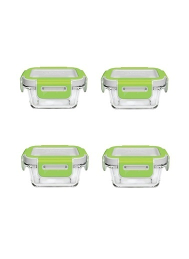 Paşabahçe 53802 Storemax Cam Kilitli Saklama Kabı 4 Lü Kahvaltılık Renkli